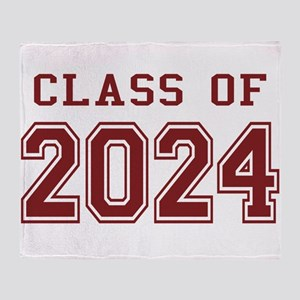 Class of 2024 (Red) Throw Blanket