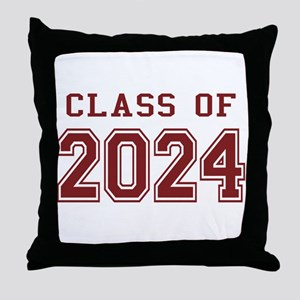 Class of 2024 (Red) Throw Pillow