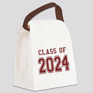 Class of 2024 (Red) Canvas Lunch Bag