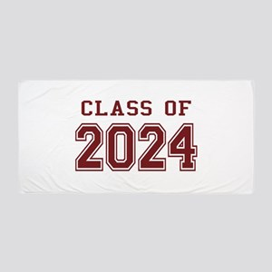 Class of 2024 (Red) Beach Towel