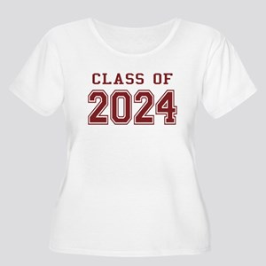 Class of 2024 (Red) Women's Plus Size Scoop Neck T