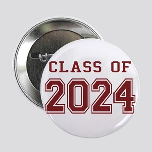 """Class of 2024 (Red) 2.25"""" Button"""