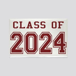 Class of 2024 (Red) Rectangle Magnet
