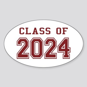 Class of 2024 (Red) Sticker (Oval)