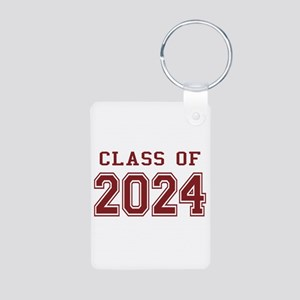 Class of 2024 (Red) Aluminum Photo Keychain