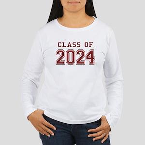 Class of 2024 (Red) Women's Long Sleeve T-Shirt