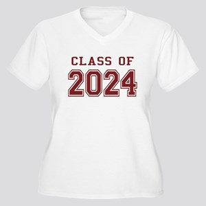 Class of 2024 (Red) Women's Plus Size V-Neck T-Shi