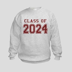 Class of 2024 (Red) Kids Sweatshirt
