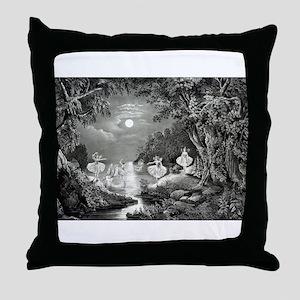 The Fairie's home - 1868 Throw Pillow