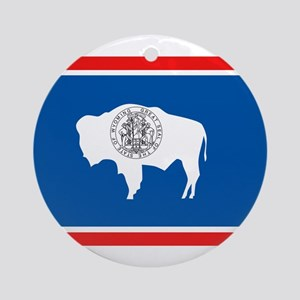 Wyoming Flag Ornament (Round)