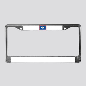 Wyoming Flag License Plate Frame