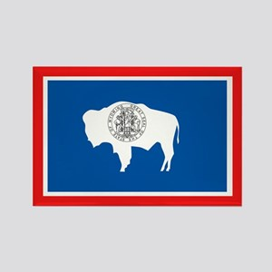 Wyoming Flag Rectangle Magnet