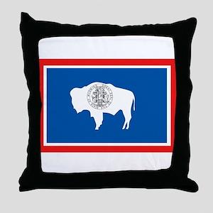 Wyoming Flag Throw Pillow