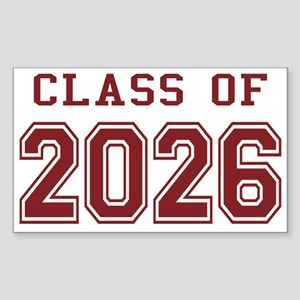 Class of 2026 (Red) Sticker (Rectangle)