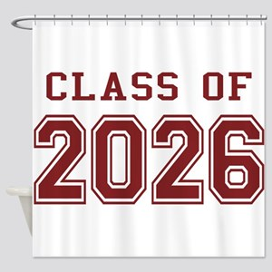 Class of 2026 (Red) Shower Curtain