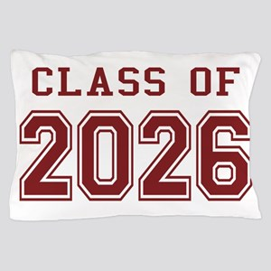 Class of 2026 (Red) Pillow Case