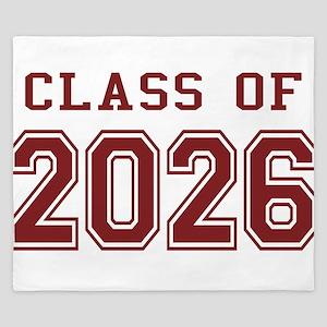 Class of 2026 (Red) King Duvet