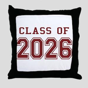 Class of 2026 (Red) Throw Pillow