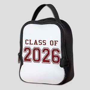 Class of 2026 (Red) Neoprene Lunch Bag