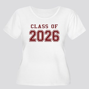 Class of 2026 (Red) Women's Plus Size Scoop Neck T