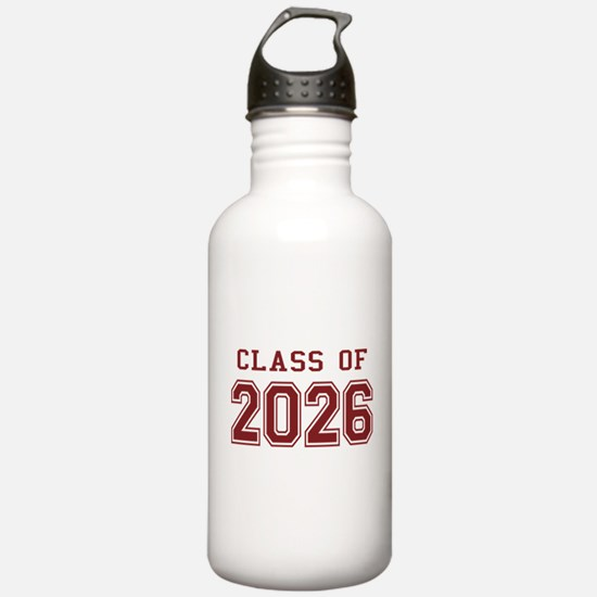Class of 2026 (Red) Water Bottle