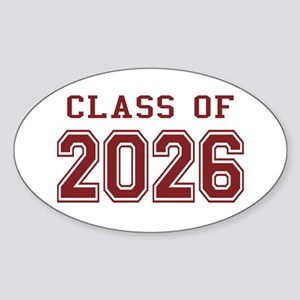 Class of 2026 (Red) Sticker (Oval)