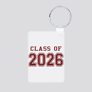 Class of 2026 (Red) Aluminum Photo Keychain