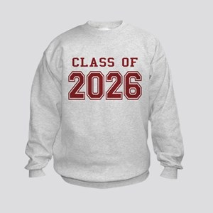 Class of 2026 (Red) Kids Sweatshirt