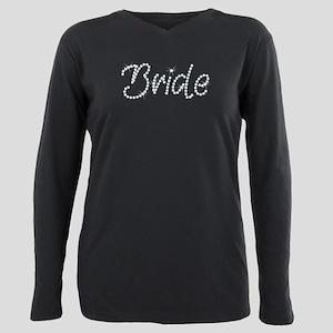 Faux Rhinestone Bride Plus Size Long Sleeve Tee
