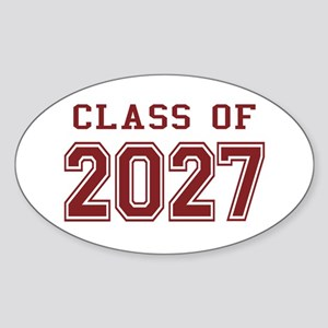 Class of 2027 (Red) Sticker (Oval)