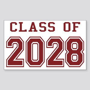 Class of 2028 (Red) Sticker (Rectangle)