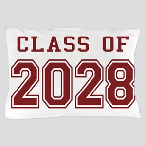 Class of 2028 (Red) Pillow Case