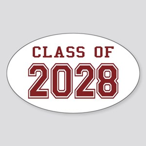 Class of 2028 (Red) Sticker (Oval)