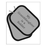 My Granddaughter is a Soldier dog tag Small Poste