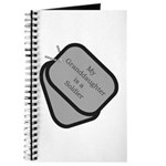 My Granddaughter is a Soldier dog tag Journal