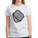 My Granddaughter is a Soldier dog tag Women's T-S