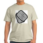 My Granddaughter is a Soldier dog tag Ash Grey T-