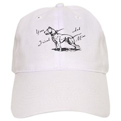 Your Friend And Mine Pit Bull Logo Baseball Baseball Cap