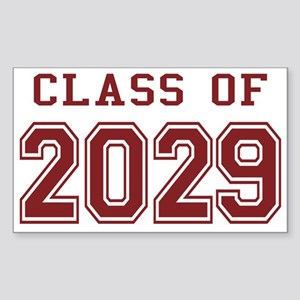 Class of 2029 (Red) Sticker (Rectangle)