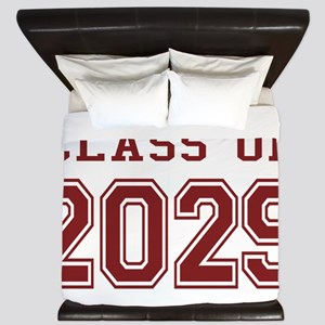 Class of 2029 (Red) King Duvet