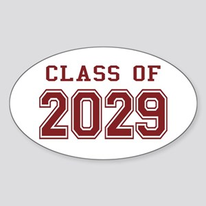 Class of 2029 (Red) Sticker (Oval)
