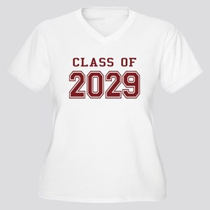 Class of 2029 (Red) Women's Plus Size V-Neck T-Shi