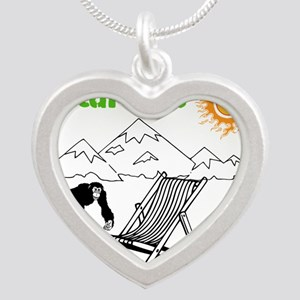 Nature Silver Heart Necklace