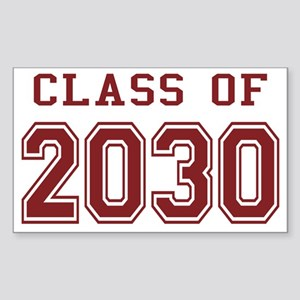 Class of 2030 (Red) Sticker (Rectangle)