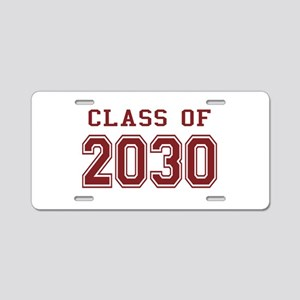 Class of 2030 (Red) Aluminum License Plate