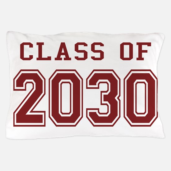 Class of 2030 (Red) Pillow Case