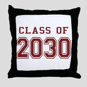 Class of 2030 (Red) Throw Pillow
