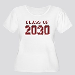 Class of 2030 (Red) Women's Plus Size Scoop Neck T