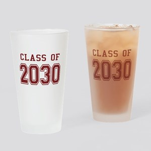Class of 2030 (Red) Drinking Glass