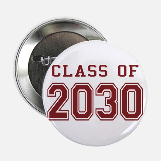 "Class of 2030 (Red) 2.25"" Button"